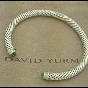 David Yurman Classic Cable Peridot Bracelet